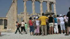 Athens Acropolis tourists Stock Footage