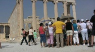 Stock Video Footage of Athens Acropolis tourists