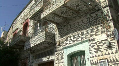 Chios Prigi decorated house Stock Footage