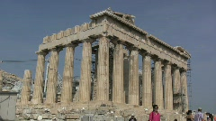 Athens Parthenon on the Acropolis Stock Footage