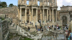 Ephasus Library of Celsus Stock Footage