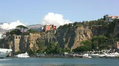 Sorrento habor and cliff  Stock Footage
