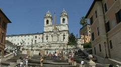Rome Spanish Steps Stock Footage