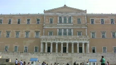 Athens Hellenic Parliamant building Stock Footage