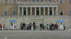 Athens Hellenic Parliament Stock Footage