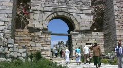 Ephesus Path to St John's tomb Stock Footage