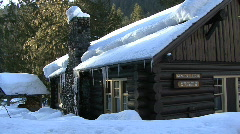 Mount Rainier National Park Cabin Stock Footage