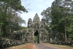 Zooms Angkor Thon Stock Footage