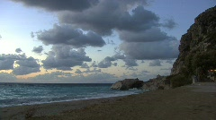 Late evening on the Ionian Sea Stock Footage