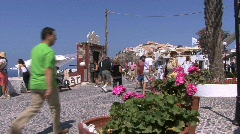 Santorini street in Fira Stock Footage