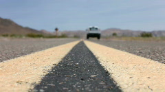 Median of highway in the desert Stock Footage