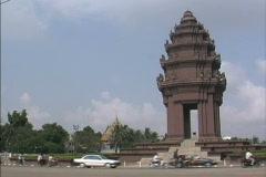 Cambodia Monument Phnom Penh Stock Footage