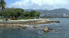 Acapulco Mexico park - stock footage