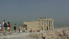 Tourists on the Acropolis in Athens Stock Footage