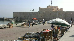 Egypt Alexandria fort Stock Footage