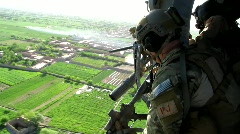 Air Force PJ rides in BlackHawk Helicopter (HD) c Stock Footage