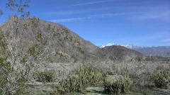 Anza Borrego distant peaks with snow Stock Footage