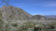 Stock Video Footage of Anza Borrego distant peaks with snow