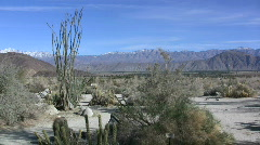 Anza Borrego view with mountains Stock Footage