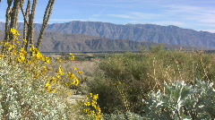 Anza Borrego view of mountains Stock Footage