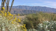 Stock Video Footage of Anza Borrego view of mountains