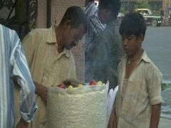 Mumbai - Street Vendor Stock Footage