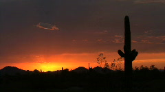 Arizona desert just after sunset Stock Footage