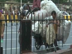 Mumbai - VT and Goods Cart1 Stock Footage