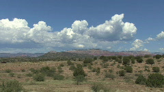 Arizona landscape with clouds Stock Footage