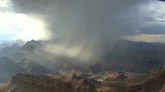 Arizona rain in the Grand Canyon Stock Footage