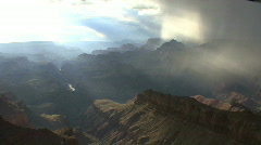 Arizona rain in the Grand Canyon Stock Footage