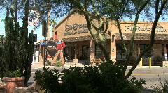 Arizona Scottsdale park and shops Stock Footage