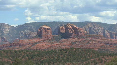 Arizona Sedona landscape zooms out Stock Footage