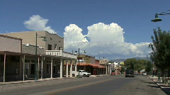 Arizona small town mainstreet Stock Footage