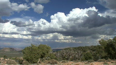 Arizona view with clouds pans  Stock Footage
