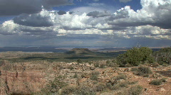 Arizona view with clouds Stock Footage