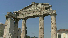 Stock Video Footage of Athens Doric columns