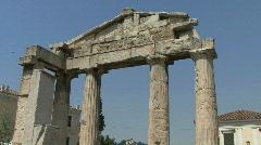 Athens Doric columns Stock Footage