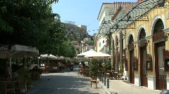 Athens Cafes in the Placa Stock Footage