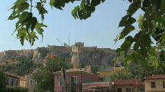Athens Zooms to the Acropolis Stock Footage