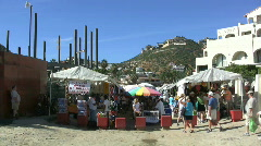 Baja Cabo San Lucas- tourists Stock Footage