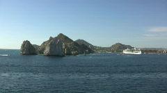 Baja California passing Lands End Stock Footage