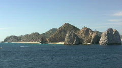 Baja California rocks and beaches Stock Footage