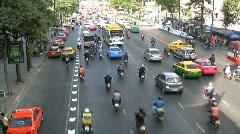 Bangkok motor scooters Stock Footage