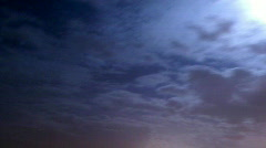 Night clouds Stock Footage