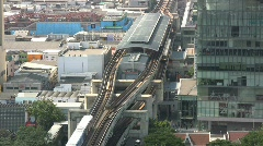Bangkok rail cars Stock Footage