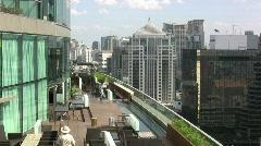 Bangkok roof garden & skyline  Stock Footage