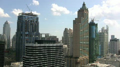 Bangkok skyline & skyscrappers Stock Footage
