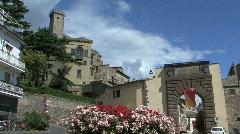 Bolsena gate & castle Stock Footage