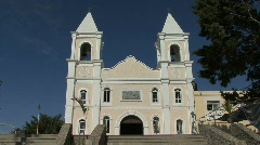 Mission church at San Jose de Cabo Stock Footage